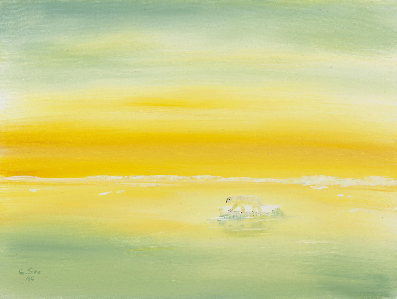 Eisbär Ölgemälde von Christian Seebauer