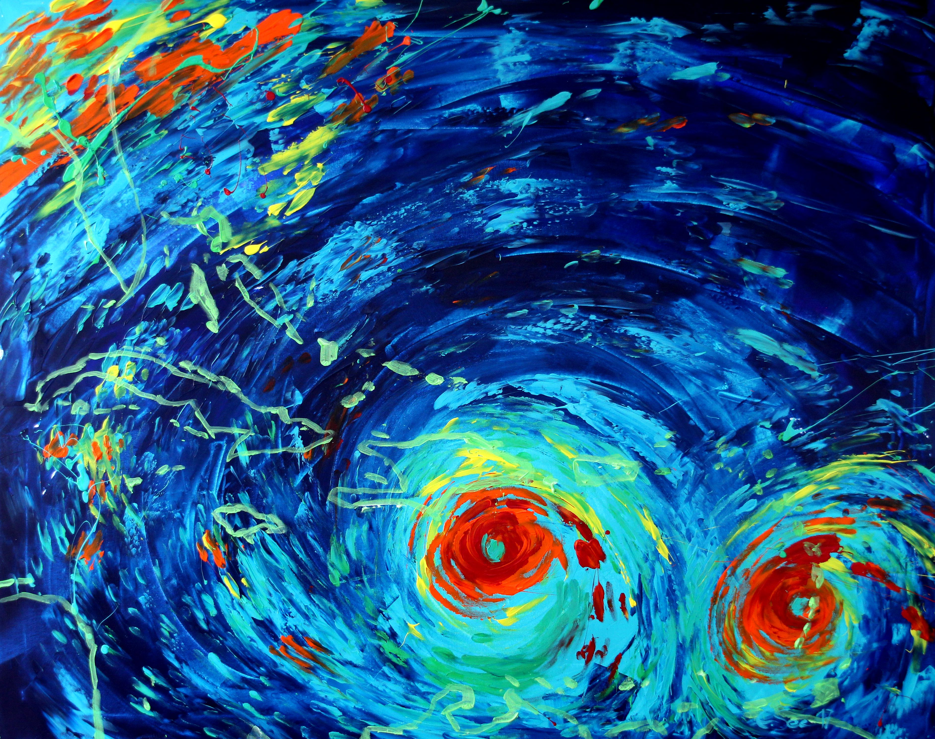 Hurricane Irma Oil Painting by Christian Seebauer